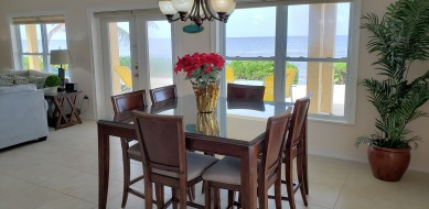 Dining Area can seat up to 8 guests.